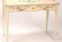 Роспись мебели - столы