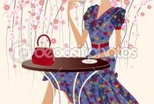 Mujeres bebiendo café