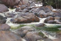 Inspiring - Art of Rocks and Water / I love painting rocks and water, and so I want to see what other artists do because it will always inspire me when I am stuck on something in my own painting! That is when it is time to take a break and visit a gallery or museum... or Pinterest!