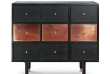 Furniture with copper
