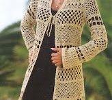 casaco de crochê