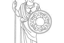 Coloriages mythologie / Découvrez les dieux de la mythologie grecque grâce à ces divers coloriages