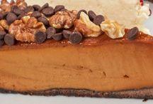 Pumpkin and chocolat cake