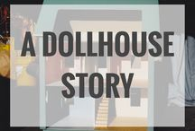 Colonial Dollhouse - amontereyblair.com / Photographs of my first dollhouse along with miniature tutorials