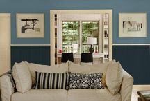 Our Best Blue Paint Color Tips / Blue paint is so versatile! It does well in any space & in almost any color combination. Pair blue paints with simple white colors to create the feel of a seaside vacation. Add warmer colors like yellows, oranges or browns to balance out the cooling effect of blues. Discover how to find the perfect blue paint color to coordinate with your interior & décor pieces. Learn this & many more color tips from the new Our Best Interior Paint Colors Fan Deck, available exclusively at Menards!