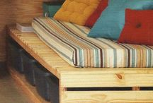 Pallets / Veja ideias de como reaproveitar pallets na decoração.