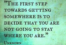 Keeping Moving Forward - and other words of wisdom