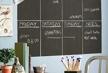 Weekplanner chalkboard