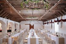 Wedding Tables / Wedding table setups in the Victorian barn at Aswanley