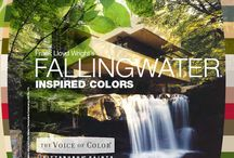 FALLINGWATER® Color Series / The Fallingwater collection is palette inspired by the architectural marvel. Replicate the famous color palette of the historic home, Falling Water by Frank Lloyd Wright, in your very own home. Blending nature and architecture, these 13 shades have been culled from the fabrics, walls, furniture and surrounding landscape of Wright's historic home and are authenticated by Fallingwater. / by PPG Voice of Color