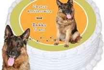 Même les animaux ont droit à un anniversaire. / anniversaire animal de compagnie chien chat, cake design, habillage gâteau