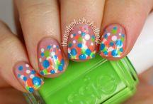 Confetti Nail art - Manicura Confeti / Confetti Nail art - Manicura Confeti