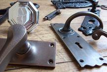Door Furniture / Beautiful door hardware from British Ironmongery. This includes door knobs, door handles, door knockers, locks and other ironmongery. All items shown are suitable for both vintage doors or a contemporary home.