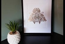 Etsy foil prints by Madhattersdiary