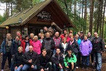 Monkeying Around / Myakka's company day out 2014. Enjoying team bonding at Go Ape, Moors Valley Park. / by Myakka