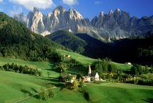 Италия В горах Италии.