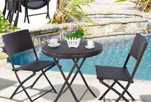 Set Rattan Garden Patio Outdoor Furniture Side 3 Piece Table Chairs Home Park