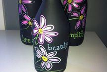 Bottiglie Di Vino Dipinte