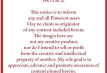 PINTEREST DISCLAIMER AND OTHER PINTEREST INFO