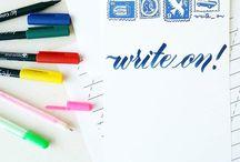 DIY: Brush Script & Calligraphy