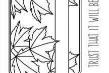 Maple Leaves Journaling Card + Die