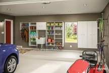 Garage / Freshen up your garage with shelves and cabinets to organize sporting goods, car supplies, and seasonal items. Discover new-found storage space in your garage!