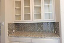 Dish cabinet glass doors look