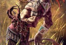 Hispanic and Mexic Gods