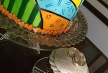 handpainted fondant cakes