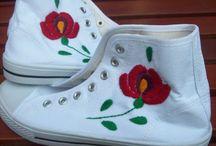 Magyar motívumok - cipők