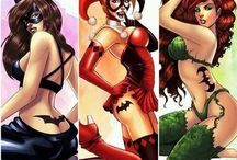 Poison ivy, Catwoman and Harley queen