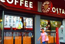 Costa Coffee, Belgrade / This is a fun cafe, right across the street from the Metropole hotel. It offers snacks and sandwiches which are quite good.  Perfect coffee point in Belgrade.