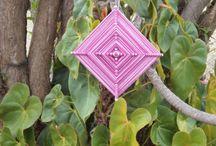 Mandala / Mandala, Olho de deus. Trabalho feito com linhas.