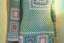 háčkované šaty-halenky