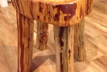 Rustic log wood  furniture