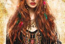 bohemien/circus / make up inspiration board