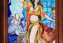 Osmanlı dans eden kız