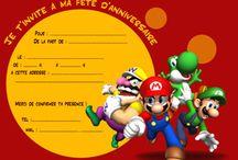 Invitation Anniversaire Mario Kart