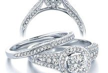 Wedding Rings Sets / Sets are made so that the wedding band fits comfortably with the engagement ring. Makes sense to me!