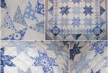 Blau - Weiß Quilt s