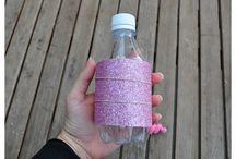 Piggy banks from plastic bottle