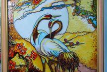 """""""МОИ РИСУНКИ НА СТЕКЛЕ"""" / Здесь представлены мои рисунки в технике - роспись на стекле. Сразу признаюсь -  Я НЕ УМЕЮ РИСОВАТЬ! Все работы выполнены как вольные копии картин известных и малоизвестных художников,картинами которых я вдохновилась, просматривая этот замечательный сайт!))"""