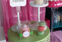Pink & Green Candy Buffet / Sweet idea for a baby shower, bridal shower or a Girls Night In party. www.signaturesweetshouston.com #SignatureDesignsHouston
