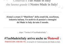 """#TuoMadeinItaly / """"Condividi il Tuo Made in Italy che faremo grande il Nostro Made in Italy!"""" Aiutaci a creare il """"Manifesto"""" della creatività, eccellenza, industria italiana. Un archivio di pensieri e immagini del Made in Italy da tutto il mondo. #TuoMadeinItaly arriva su PINTEREST: PARTECIPA ANCHE TU, """"Pin It"""" Foto che rappresentino il MadeinItaly (dal design alla gastronomia, alla pittura, all'architettura etc.) FOLLOW """"INFINITODESIGN"""", SCRIVICI E RICHIEDI L'INVITO PER PINNARE NELL'ALBUM www.tuomadeinitaly.it"""