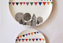 pratos porcelana pintada