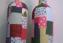 Garrafas patchwork