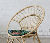 Rattan round chair