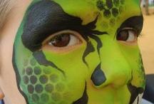 Facepainting - Halloween / Monsters, vampire, spiderweb +++