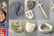 Accessoires pour chevalier et princesse / Découvrez nos accessoires pour accompagner les déguisements de nos chevaliers et princesses !