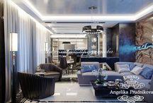 Дизайн проект интерьера квартиры в ЖК Эмиральд в стиле модерн / Ядром дизайнерской концепции интерьера взят стиль модерн. В квартире в ЖК Эмиральд имеется открытая гостиная объединяющая столовую и кухню, вместительный гардероб, стильная ванная комната, кабинет, две спальни и небольшое помещение с беговой дорожкой.  Мебель и другие элементы интерьера передают атмосферу роскоши. Такой дизайн понравиться даже эстетам.